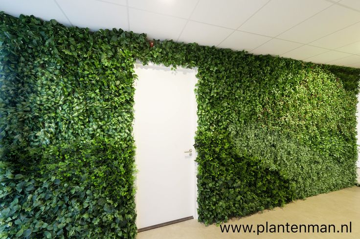 Greenwall with artificial plants