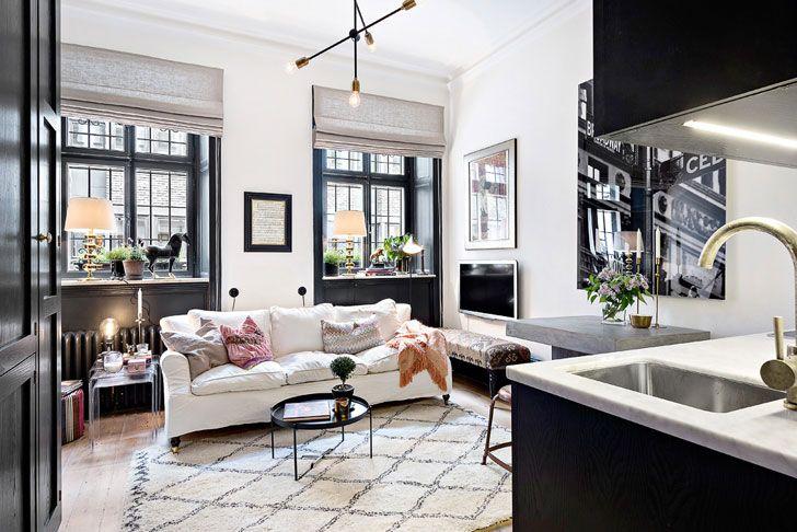 Двухкомнатная квартира на 28 кв. м - вполне реально! | Пуфик - блог о дизайне интерьера