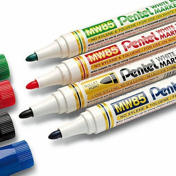 Details About Pentel Mw85 White Board Dry Wipe Marker Pen Bullet Tip With Images Marker Pen Pen Gel Ink Pens