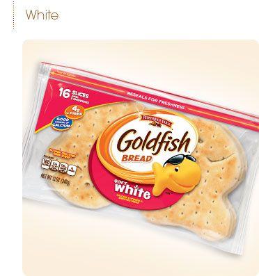 Pepperidge Farm® - Goldfish™ Bread...perfect to make Peanut Butter & Jellyfish :)