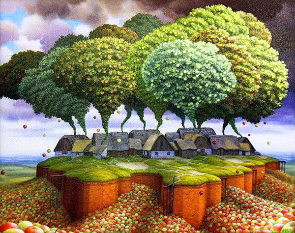 The art of Jacek Yerka. Love it!
