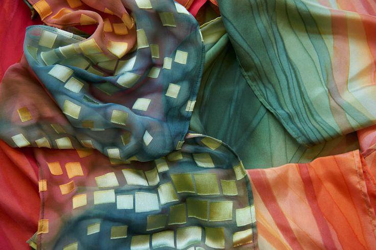 Arashi Shibori & Silk Painting