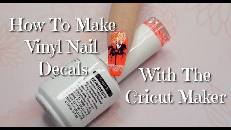 Diy nail vinyl decals with cricut maker 2019