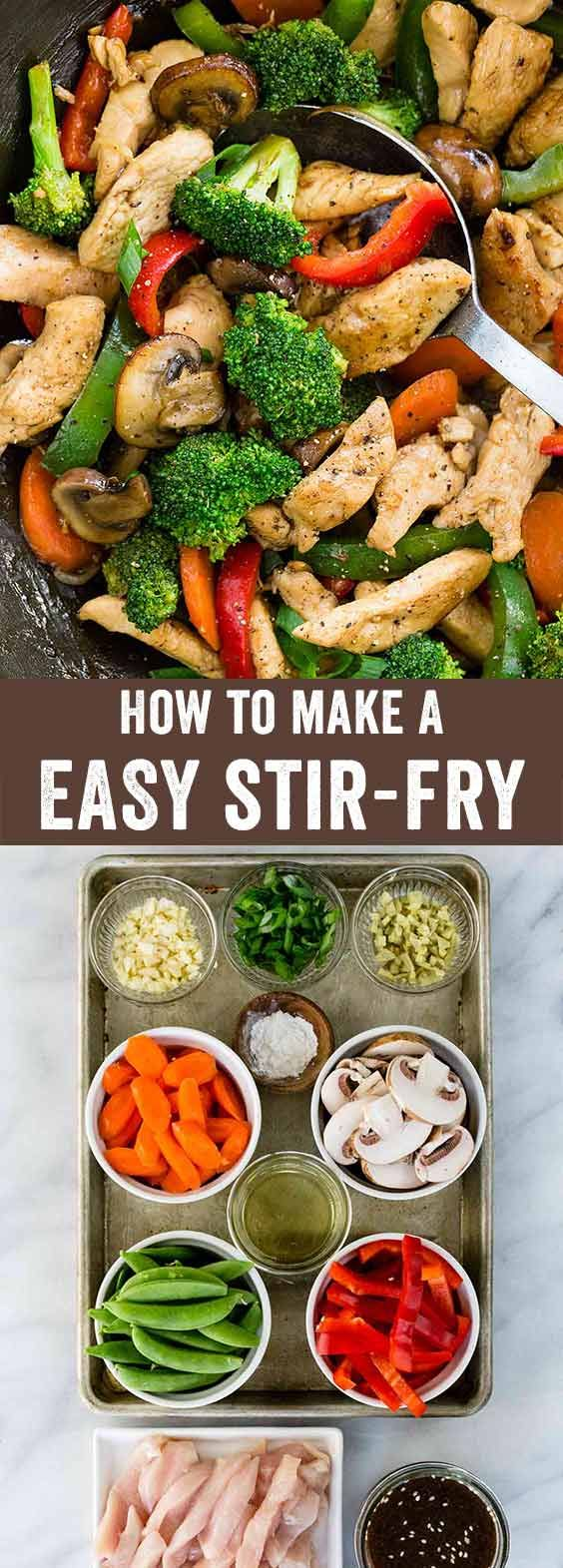 A step-by-step guide to teach you the simple process of making a stir-fry. Learn the basic formula to create a wide variety of Chinese recipes that involve cooking with a wok. via @foodiegavin