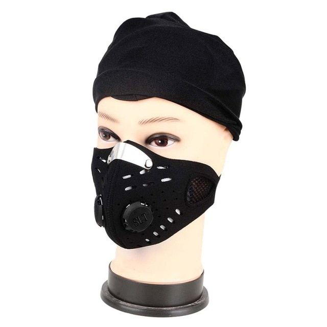 1 New Fitness Bicycle Cycling Anti-Pollution Half Face Shield Filter Anti Dust