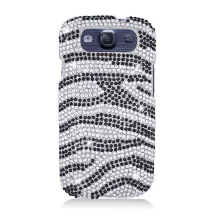 Insten Zebra Full CS Diamond Protector Case Cover for Samsung Galaxy S3 I9300