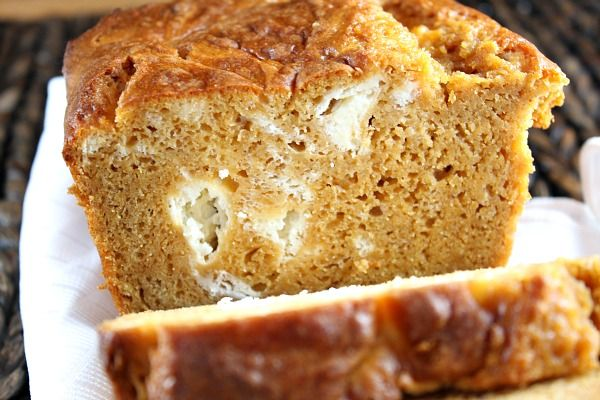 Pumpkin- Cream Cheese Swirl Bread