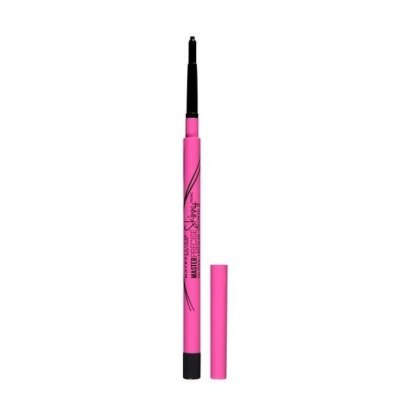 Maybelline Eyestudio Master Precise Skinny Gel Pencil  Defining Black... ($6.99) ❤ liked on Polyvore featuring beauty products, makeup, eye makeup, eyeliner, gel pencil eyeliner, maybelline eyeliner, oil free eyeliner, pencil eye liner and gel eye makeup remover