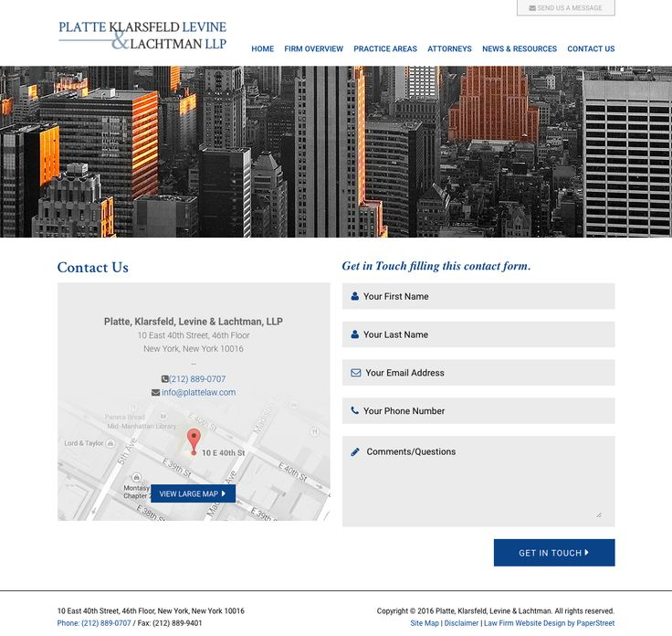Contact Us Page Examples: 81 Best Law Firm Contact Page Examples Images On Pinterest