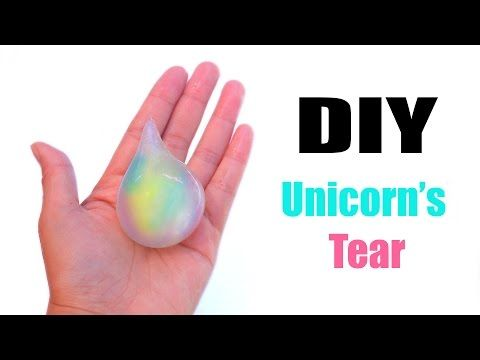 DIY unicorn's tear squishy soap! Instant stress ball soap