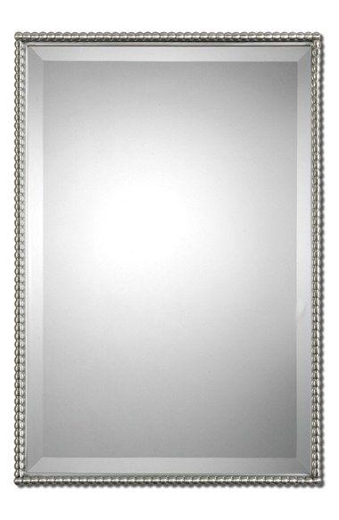 Uttermost 'Sherise' Brushed Nickel Mirror