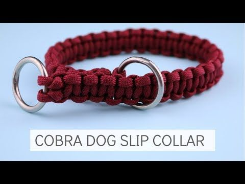 HOW TO MAKE A PARACORD COBRA SLIP DOG COLLAR TUTORIAL - YouTube