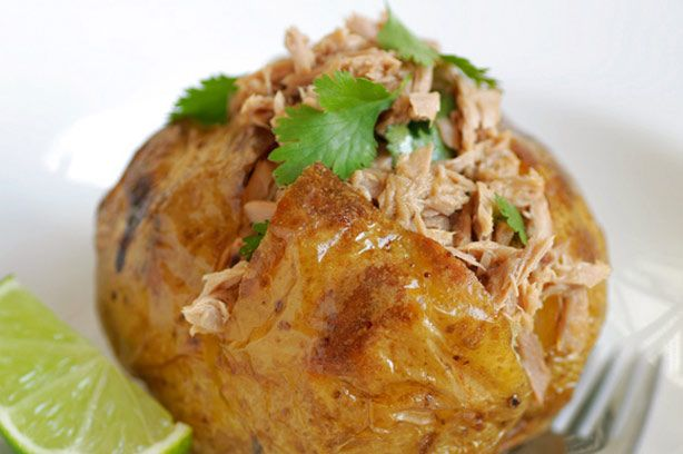 Jazz up your jacket potato with this tuna, lime and coriander recipe. Not only does it include tips on getting a really crispy and delicious skin but the tangy tuna and lime combination is irresistable.
