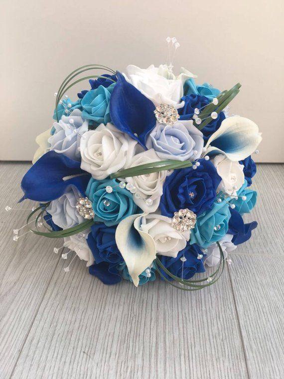 Bouquet Sposa Carta Da Zucchero.Artificial Flowers Bride Wedding Bouquet Calla Lily Foam Roses