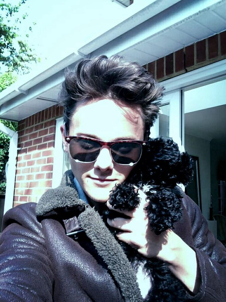 Tyger Drew-Honey and his cute dog Regy :)