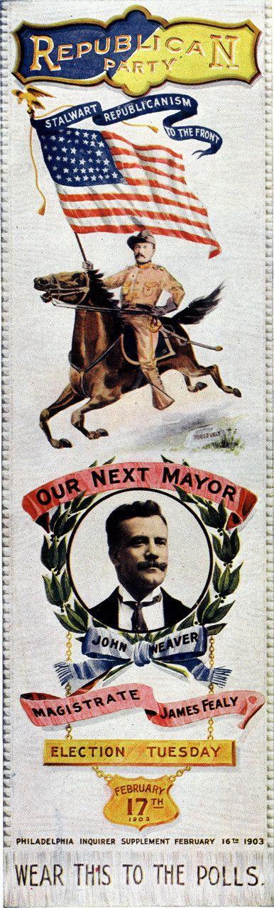 Philadelphia Republican Party Ribbon - 1903