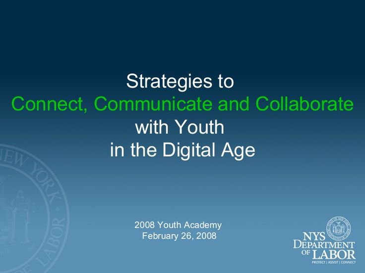 A presentation prepared for the NYATEP Youth Academy in February 2008 to introduce how to serve youth in workforce development…
