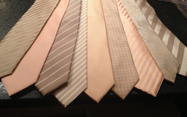 groomsmen ties in neutral shades, from ties.com ranging from $15 to $20