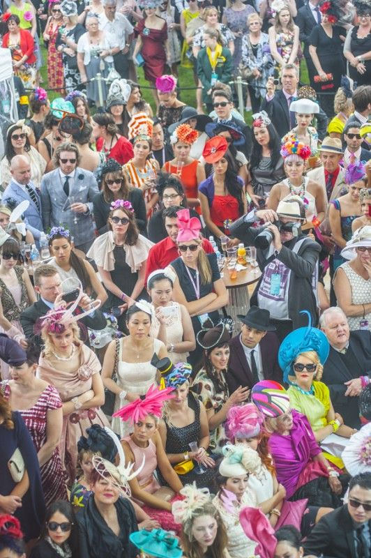 a typical Melbourne Cup crowd in recent years..........Just look at those hats!!! #mybetsonbetts