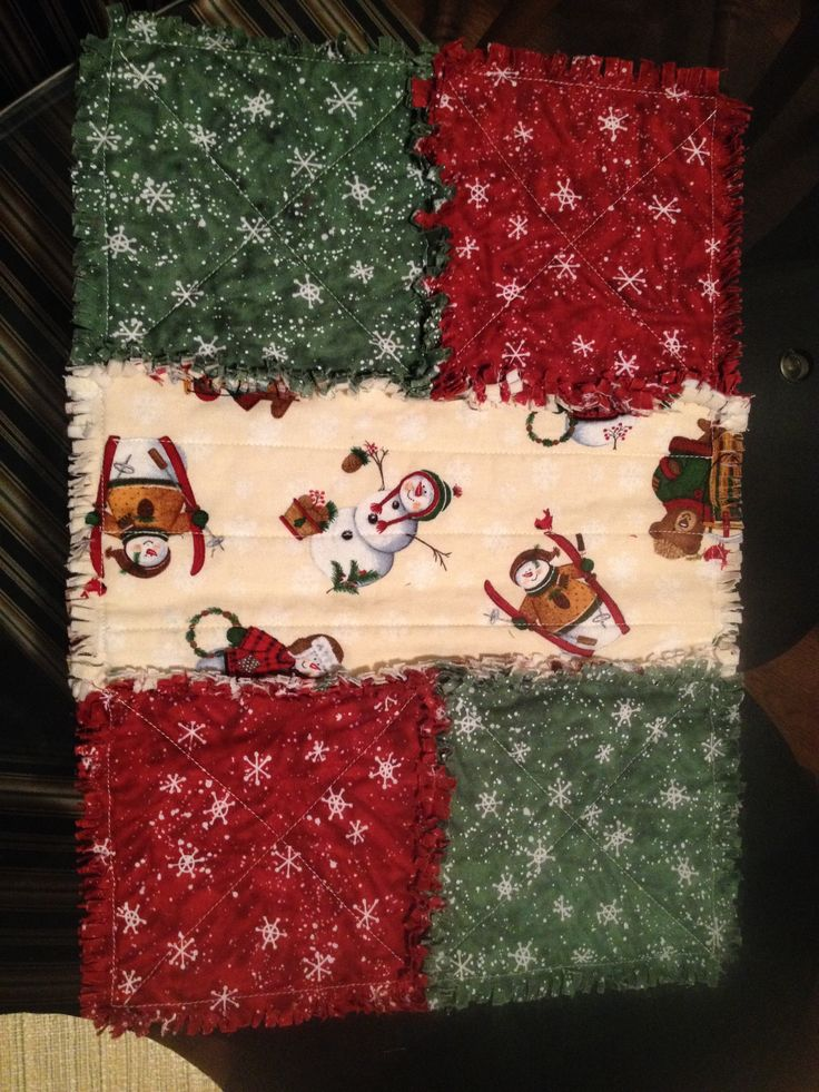 Cotton Rag Quilt Placemats! Sewing Pinterest Discover more ideas about Rag quilt