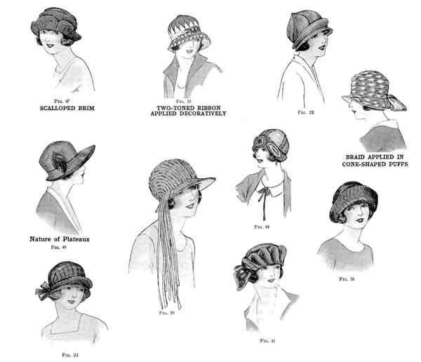 1920's Cloche designs in straw