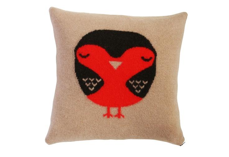 Beautiful Robin cushion by Donna Wilson.