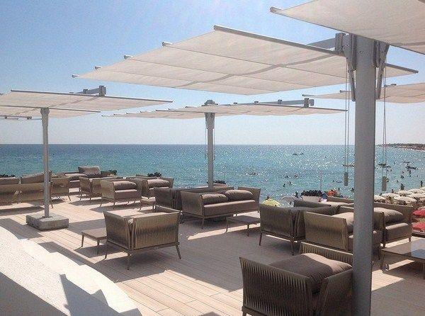 exclusive umbrellas white commercial use restaurant beach sea flexy twin