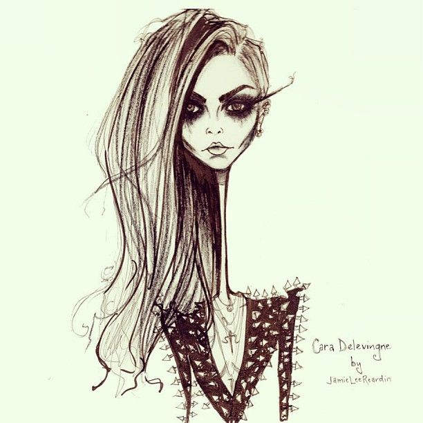 Illustration by Jamie Lee Reardin of #caradelevingne