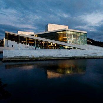 Den Norske Opera: Naturstein i fasader er levert av Naturstein Montering AS på Sundvollen i Hole Kommune