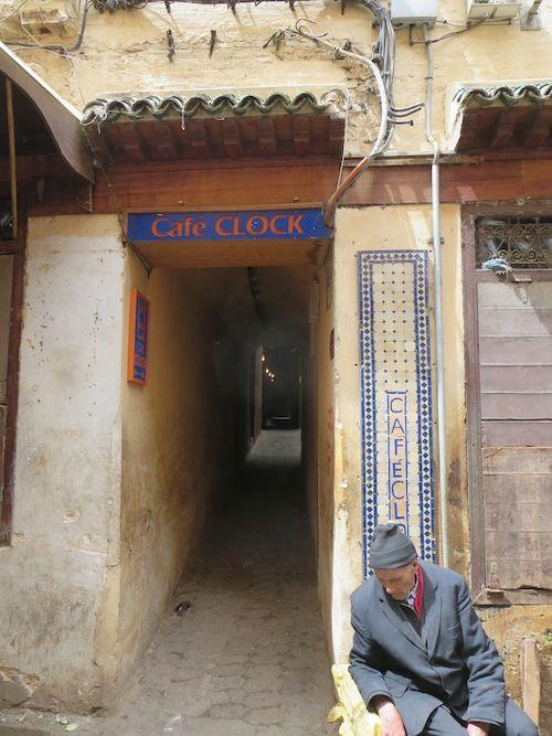 Entrance to Cafe Clock, Fez, Morocco