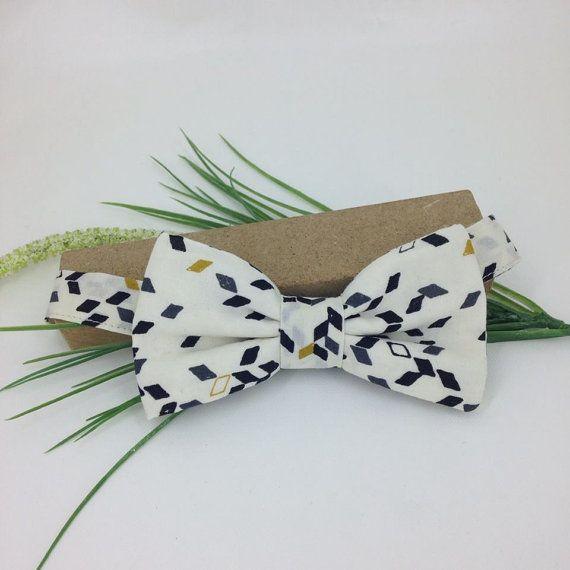 Bow tie pre tied, fabric graphics, bowtie, marriage, wedding