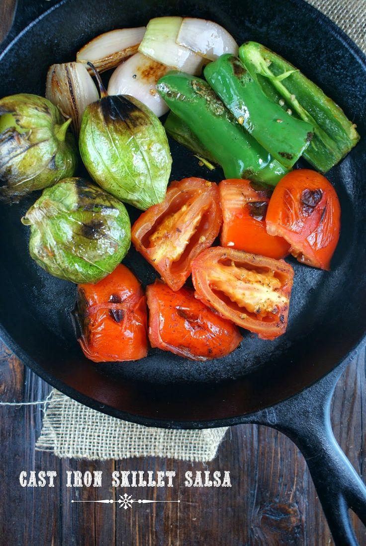 Authentic Suburban Gourmet: Cast Iron Skillet Salsa | Friday Night Bites