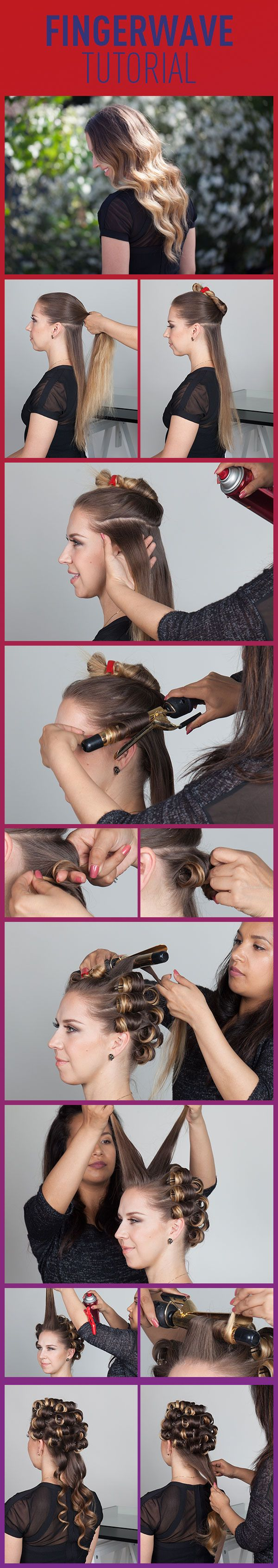 Finger Wave Tutorial! Such a classic look and it is completely on trend right now!