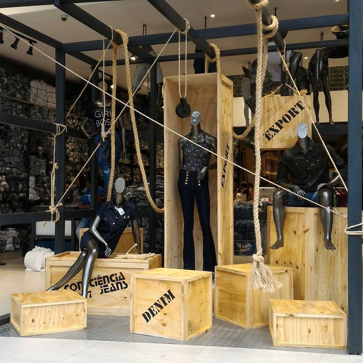 """CONSCIENCIA JEANS, Made in Brazil, """"Denim Export"""", photo by Fonte das Artes, pinned by Ton van der Veer"""