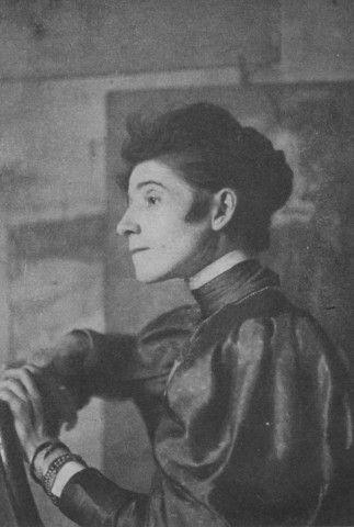 OLGA BOZNAŃSKA W LIPCU 1898 R. Wł. p. Edwarda Chmielarczyka, Fot. z nat. http://polskidomaukcyjny.com.pl/blogs/publikacje/16991700-olga-boznanska-helena-blumowna-1949-r-czesc-i