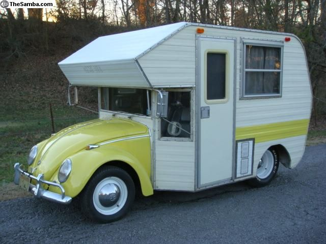 VW bug camper conversion. Kit sold in the 70's