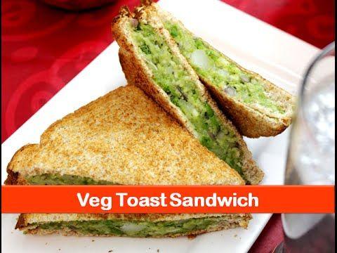 Vegetarian sandwich recipe/healthy evening snacks/indian breakfast recipes/kids lunch box snack idea - YouTube