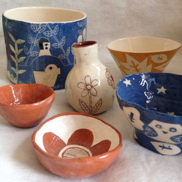 Lately I have been really inspired by all things ceramics. Many illustrators and artists are rediscovering this medium and energizing the pottery world with beautiful and witty clay-based trinkets, ornaments and jewellery. Here are some of my favourites. Emma Crockatt Liv & Dom R