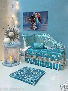 pinkrosemh-Couch-Bett-Moebel-Furniture-fuer-Barbie-Monster-High-Eiskoenigin-Elsa