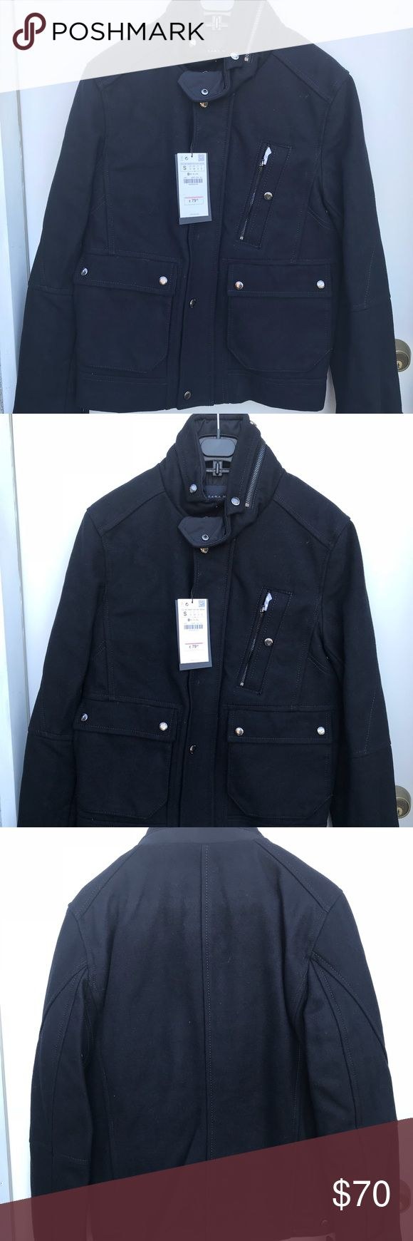 Winter coat Men's peacoat Zara Jackets & Coats Pea Coats