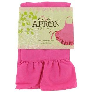Hot Pink Child Size Apron with Ruffle Trim | Shop Hobby Lobby 3.49 each hot pink wiht a ruffle