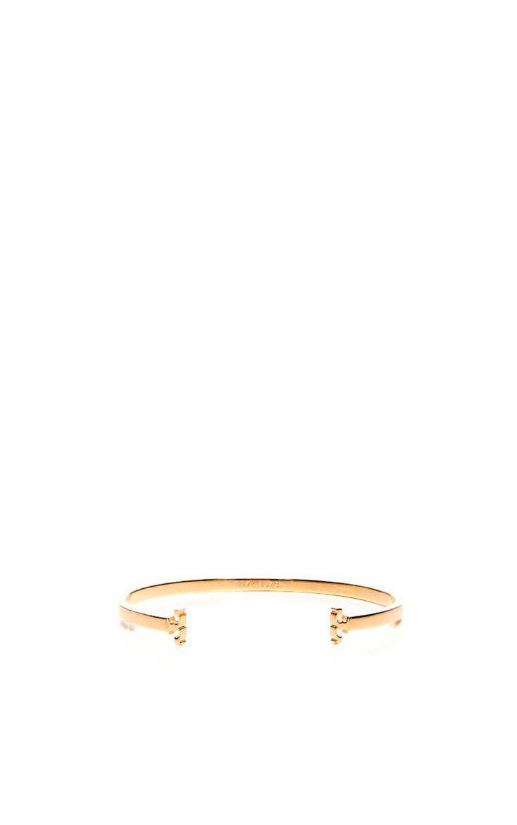Armband Skinny Serif T-logo Cuff GOLD - Tory Burch - Designers - Raglady