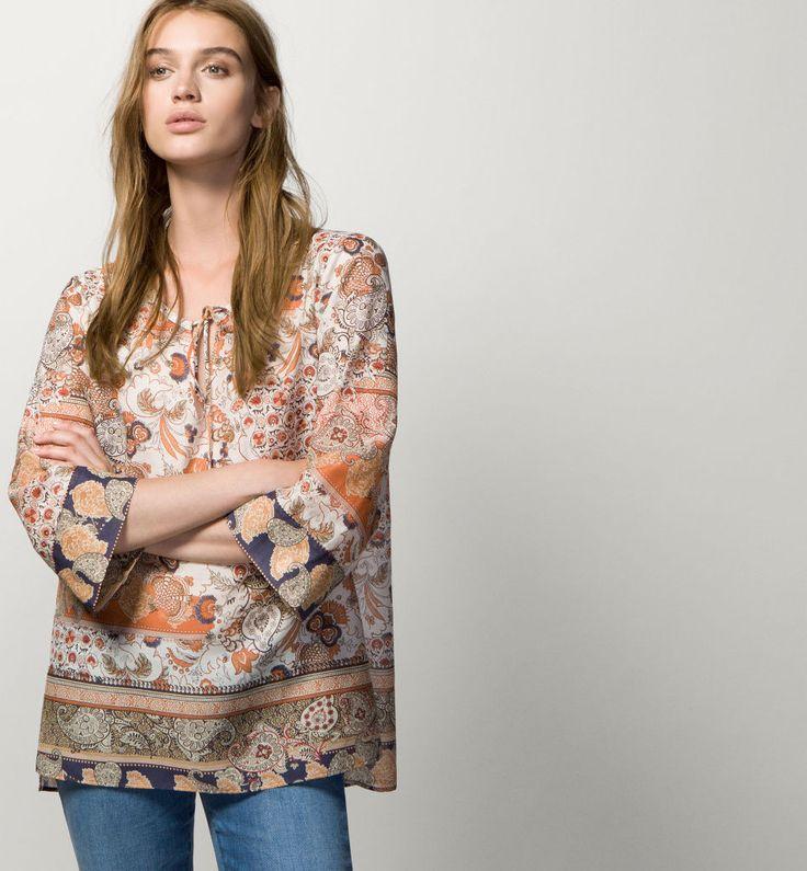 Imagen moda-otono-invierno-para-mujer-camisetas-y-camisas-CAMISAS-estilo-bluson-de-massimo-dutti del artículo Moda para mujer: Camisetas y Camisas Otoño Invierno 2017 – 2018