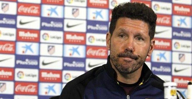 """Simeone se reivindica: """"Hace tiempo fueron mejores pero hoy competimos a la par que el Madrid"""""""