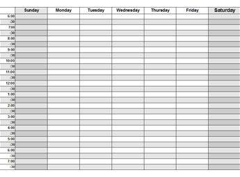Daily Week Calendar