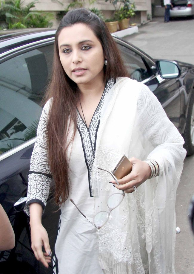 Rani Mukerji at Ravi Chopra's prayer meet. #Bollywood #Fashion #Style #Beauty