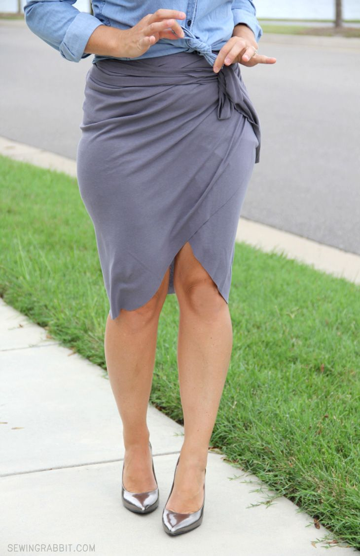 No Sew Wrap Around Tulip Skirt DIY