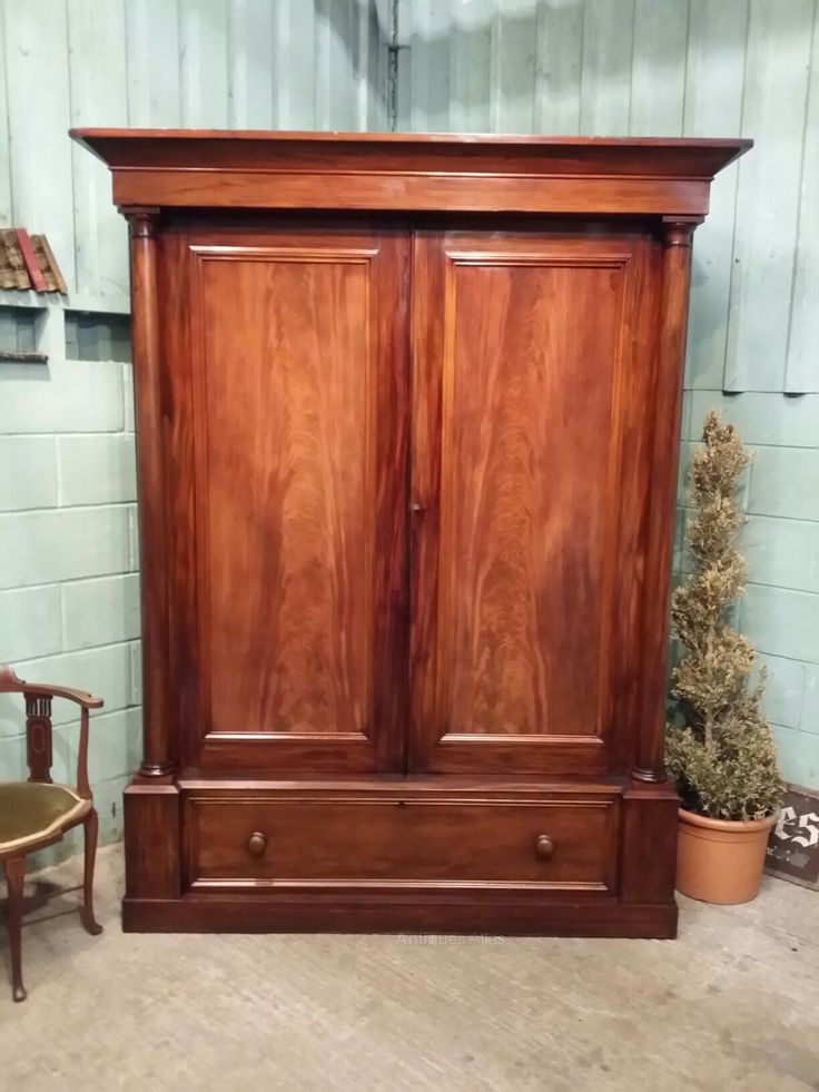 Antique Large Victorian Mahigany Double Wardrobe   Antiques Atlas