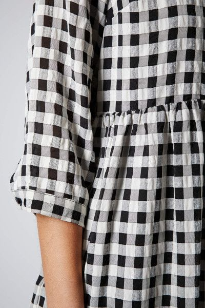 Topshop Searsucker Gingham Smock Dress