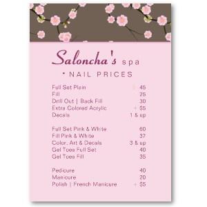 Salon price list salon price list pinterest price list salons and nail salons for Nail salon price list template